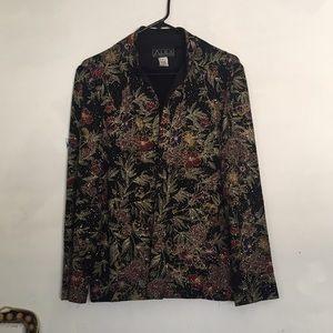 Jackets & Blazers - Vintage alex evenings jacket sparkle glitter